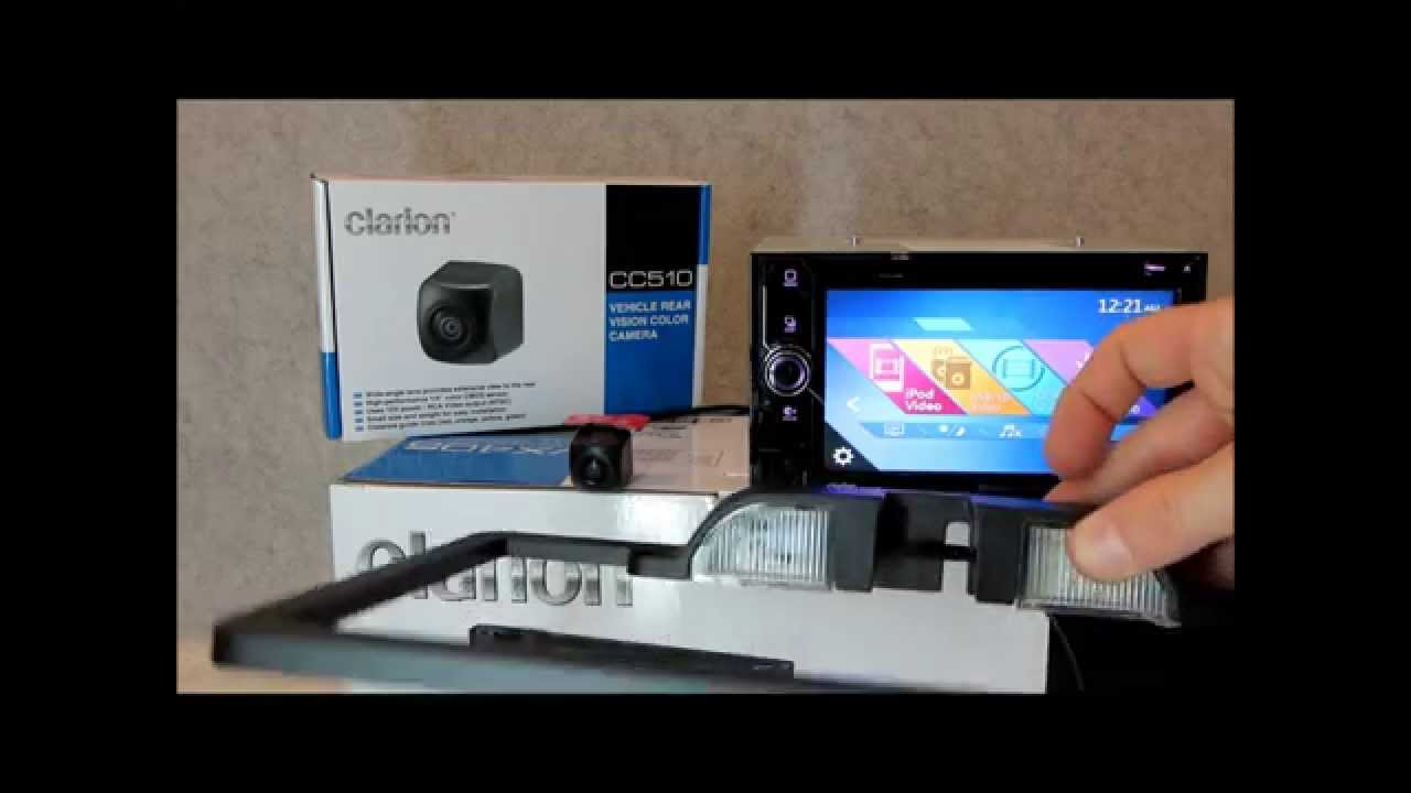 hight resolution of clarion cc510 cau001 rear view camera interactive demo review youtube