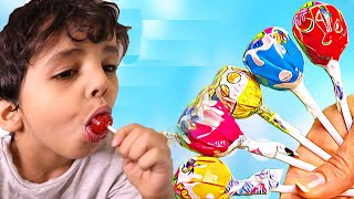 Elias and song Finger family Candy