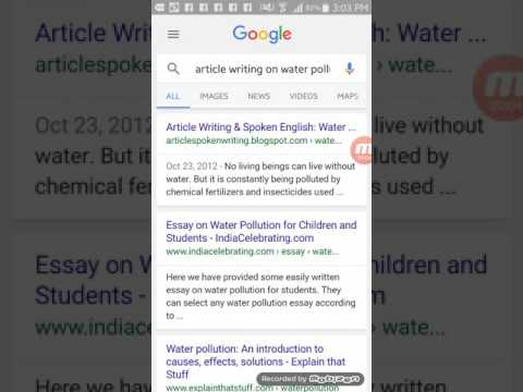 article writing on water pollution  article writing on water pollution