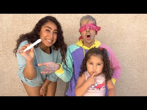 GIRLFRIEND AND DAUGHTER SURPRISE DADDY WITH PREGNANCY ANNOUNCEMENT! **EMOTIONAL**