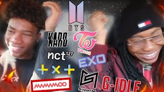 NON KPOP FAN REACTS TO KPOP GIRL AND BOY GROUPS FOR THE FIRST TIME‼️