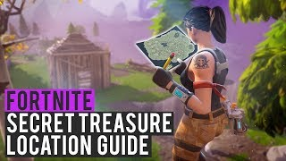 SECRET TREASURE MAP ITEM FOUND! - Fortnite: Battle Royale