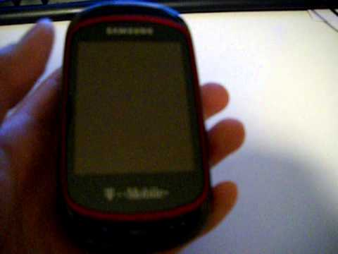 T-Mobile Samsung Gravity T SGH-T669 Ebony Red Touch Screen Slider Cell Phone Review