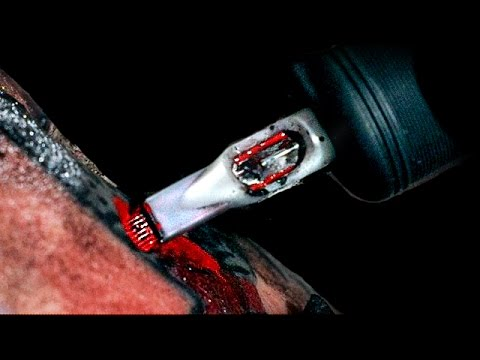 tattoo in slow motion slow mo time youtube