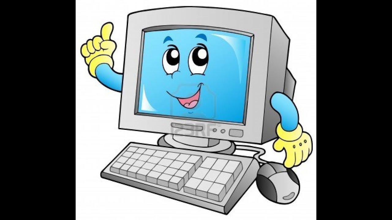 كمبيوتر كرتون