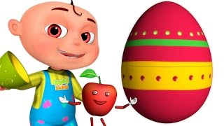 Five Little Babies Fruit Song | Surprise Eggs | Zool Babies Fun Songs