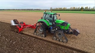 Ploughing w/ Deutz-Fahr Agrotron TTV 7250 on Soucy Tracks & Kuhn Vari-Leader Plow | Mts. Hack