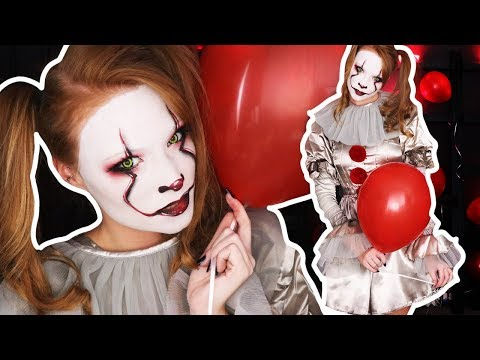 """IT"" Pennywise Halloween Beauty Makeup Tutorial"
