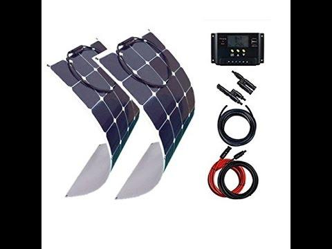 100 watt camping solaranlage 12volt set mit. Black Bedroom Furniture Sets. Home Design Ideas