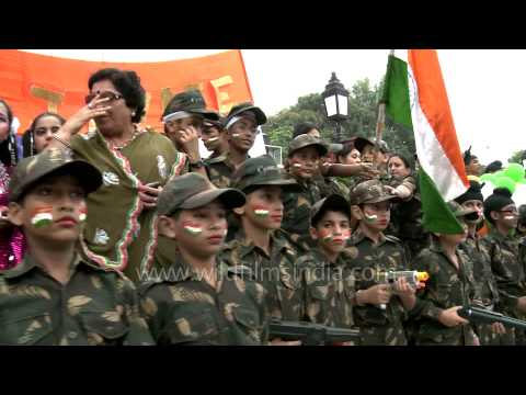 Kids in camo like the army at Wagah border on Independence day