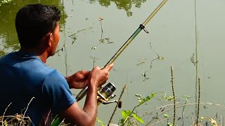 Caught Fish By Professional Fish Hunter In The Pond Of Mondir