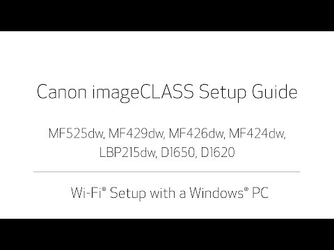 ImageCLASS D1600 Series Wireless Setup Video For Windows (D1620 & D1650)