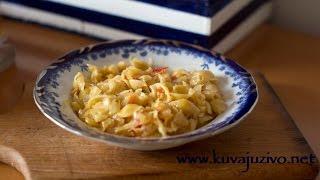 Kupus Sa Flekicama ( Testeninom) - Video Recept - Kuvaj Uzivo- Cabbage And Pasta