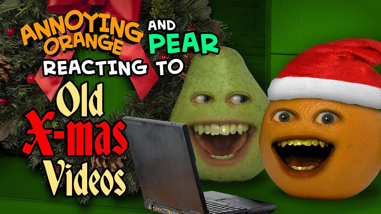 annoying-orange-and-pear-react-to-old-christmas-videos