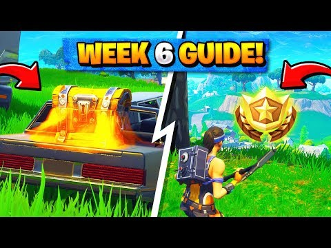 Fortnite WEEK 6 CHALLENGES! - Secret Battle Star Location, Omega / Carbine (Season 4 Battle Pass)