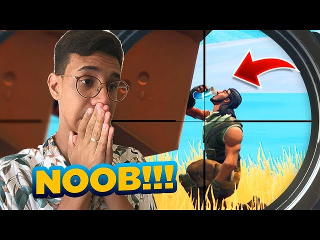 10 minutos com os maiores noobs do fortnite...