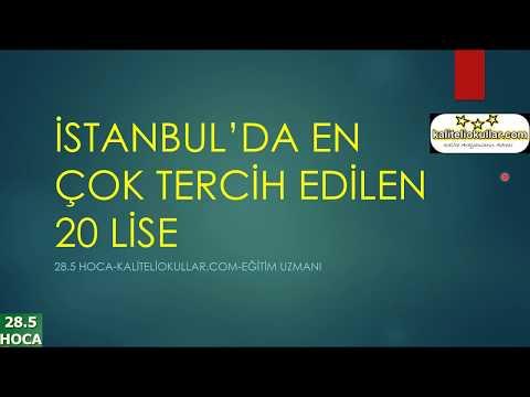 İSTANBUL'DA EN POPÜLER 20 LİSE (2018 YILI)