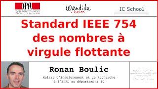 Standard IEEE 754 Représentation de nombres avec virgule flottante - Machines numériques