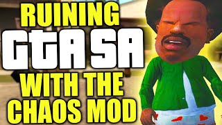 I ruined GTA San Andreas with the chaos mod