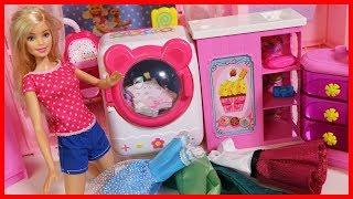 芭比娃娃做家務穿衣梳頭扮家家酒玩具故事