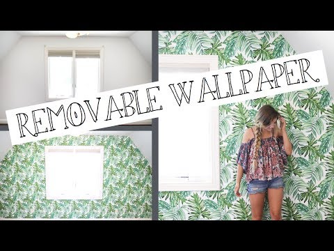 Putting up Palm Leaf Temporary Wallpaper