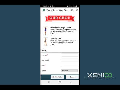 Xenioo Forms: Order Completion on Facebook Messenger
