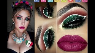 🇲🇽 Maquillaje NOCHE MEXICANA PATRIA / 🇲🇽 Mexican Party Makeup tutorial | auroramakeup