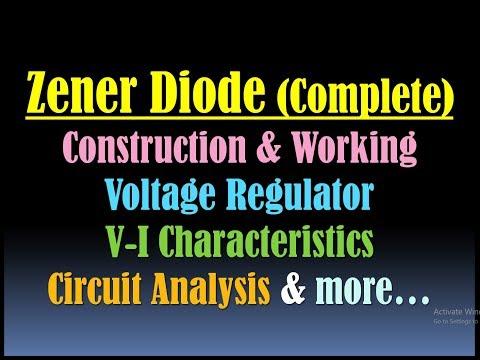 Zener Diode- Zener Diode As Voltage Regulator-Construction And Working & VI Characteristics Of Zener