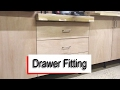 How to Fit Drawer Slides, Drawer Fronts and Handles.
