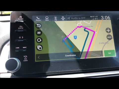 2019 Honda Accord Hybrid Touring: Garmin based Navigation System