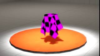 SFM cloth vertex animation test