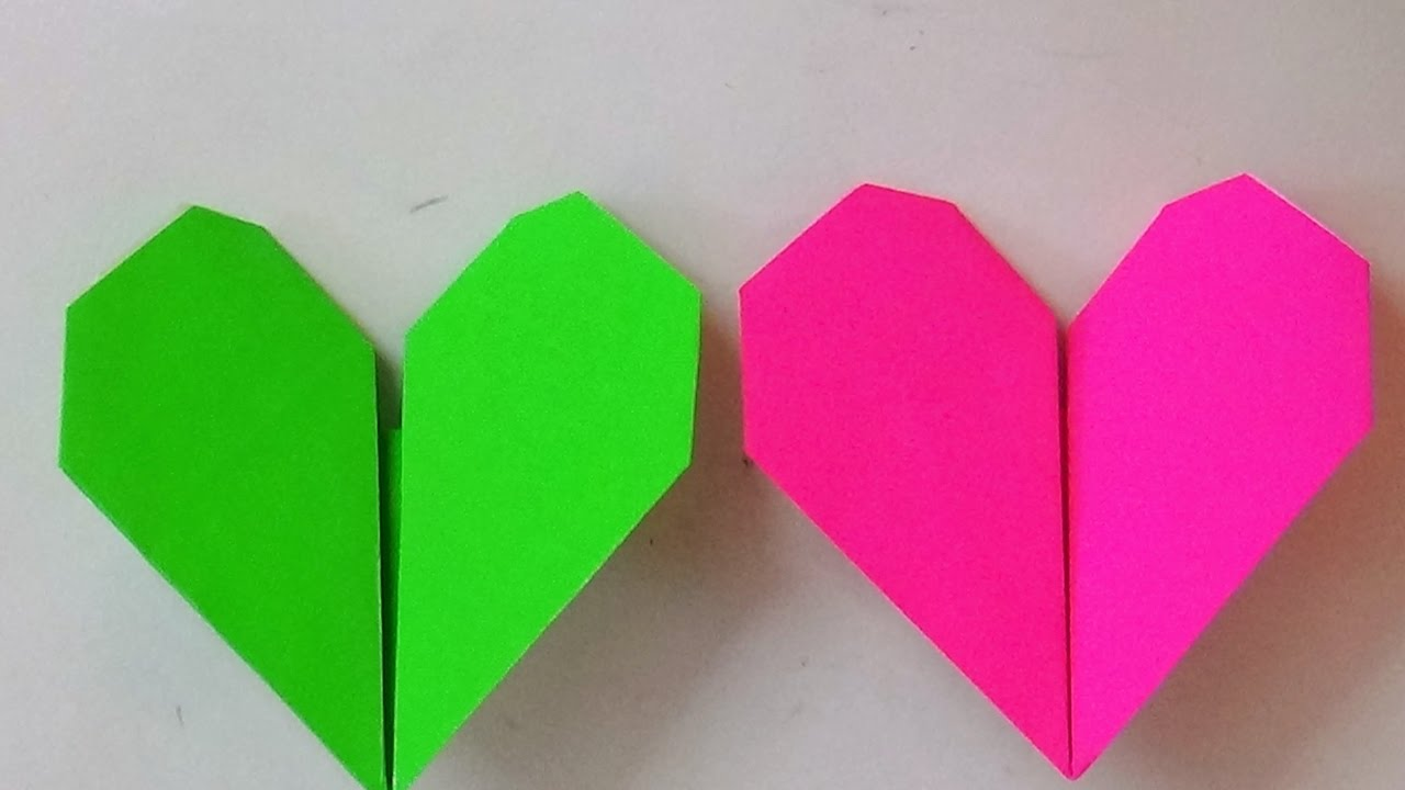 Origami Art How To Make An Origami Beating Heart Youtube