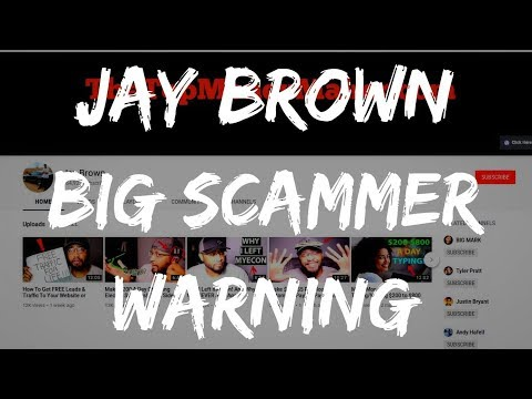 JAY BROWN PROMOTING HUGE SCAM! (WARNING)