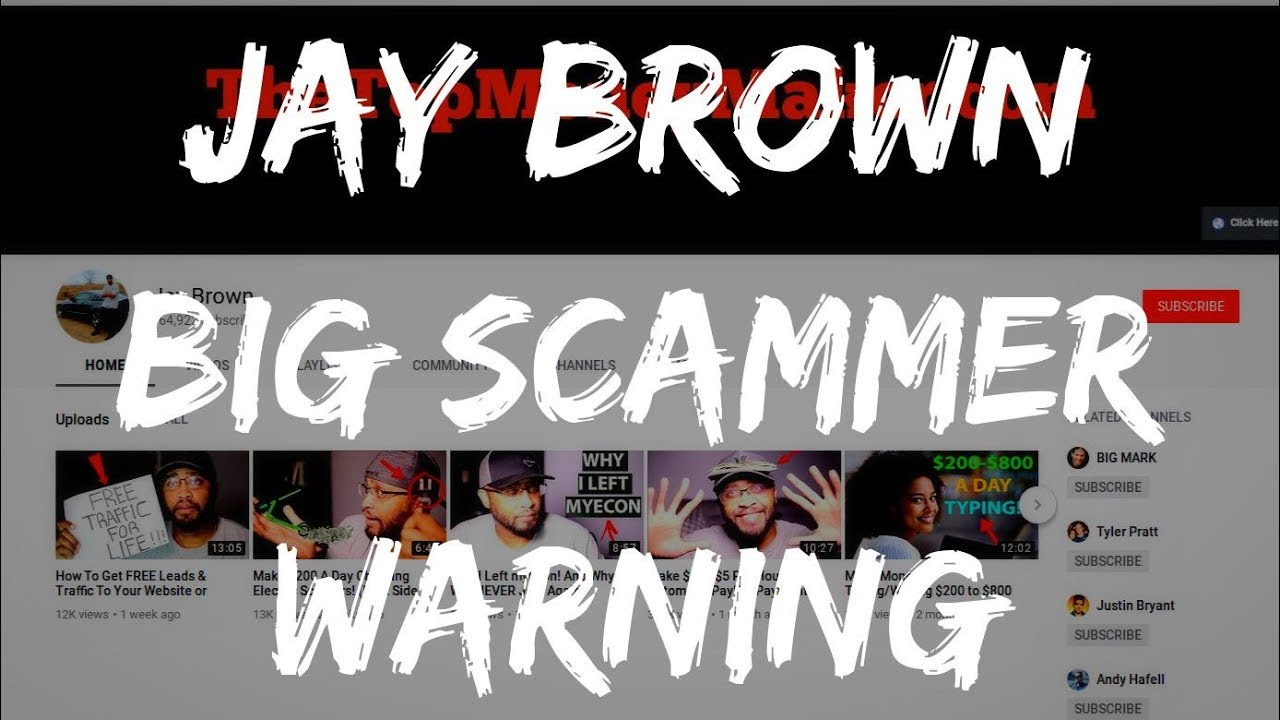 JAY BROWN PROMOTING HUGE SCAM! (WARNING)