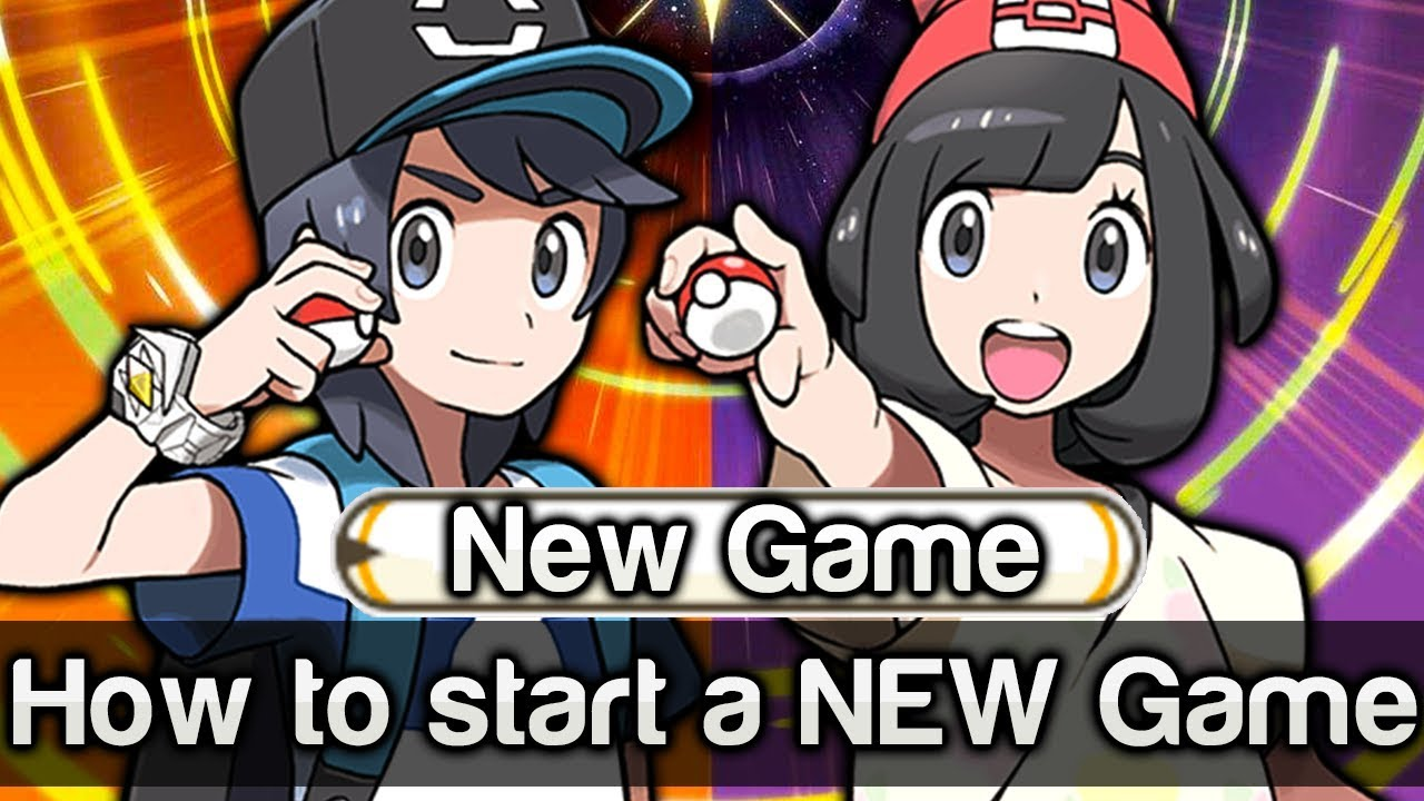 How do I start a new game in Pokemon Sun/Moon? - Arqade