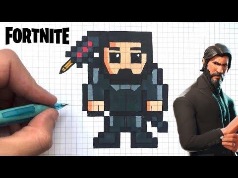 How To Draw The Reaper Skin Pixel Art Fortnite Youtube