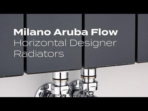 Discover The Milano Aruba Flow Horizontal Designer Radiator