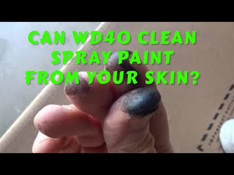 Clean Paint From Skin With WD40