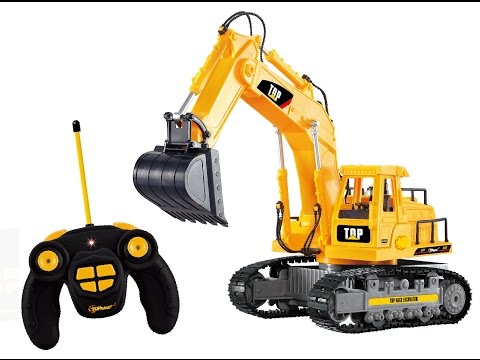 Top Race® 7 Ch Full Functional Excavator, Electric RC Remote Control Construction Tractor