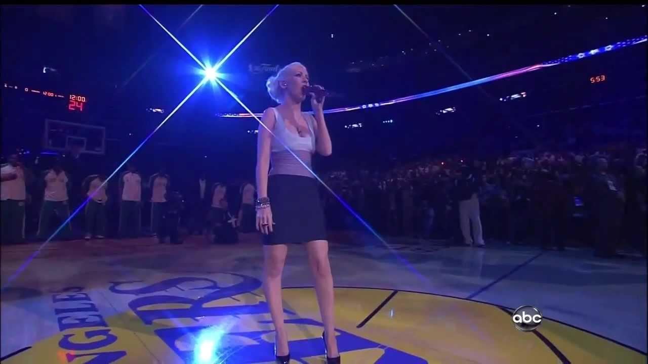 Christina Aguilera ,HD, American National Anthem , Live ...