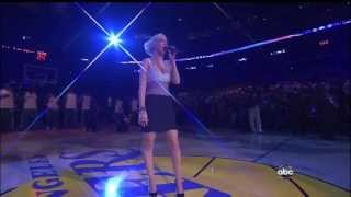 Christina Aguilera ,HD,  American National Anthem , Live NBA Finals Game 7, HD  720p