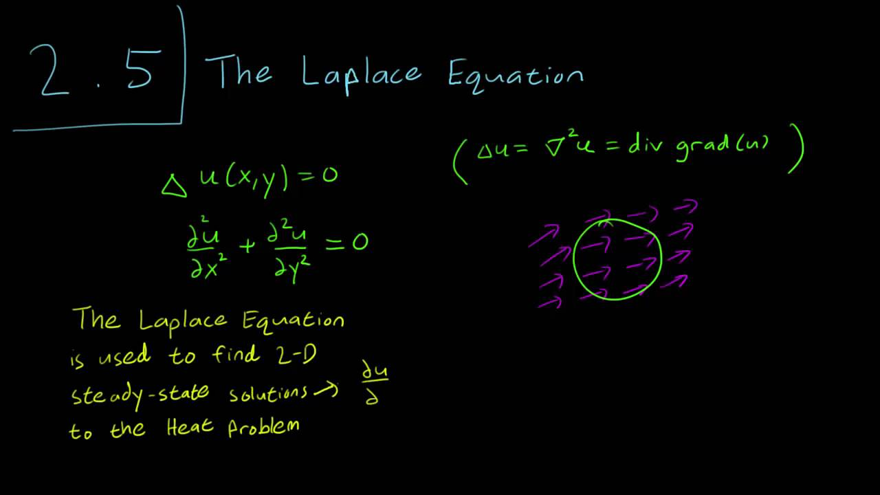2 5 introduction to the laplace equation youtube