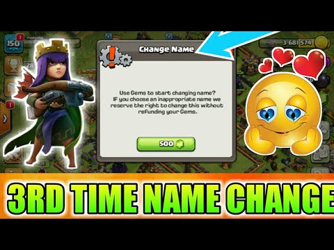 3RD TIME NAME CHANGE GUIDE MUST WATCH   HOW TO CHANGE NAME IN COC?