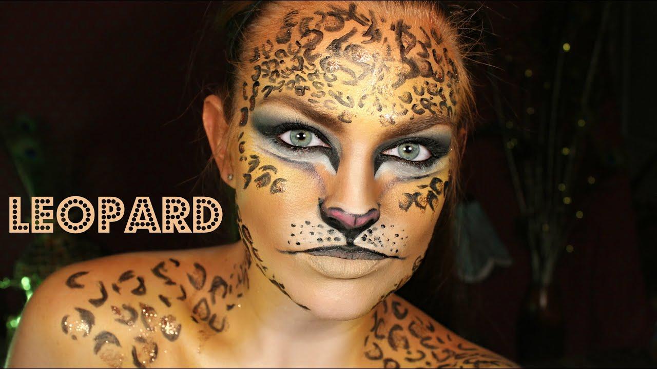 Halloween Makeup Tutorial: Leopard - YouTube
