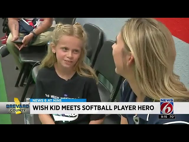 Wish Kid meets USSA Softball star Alex Powers