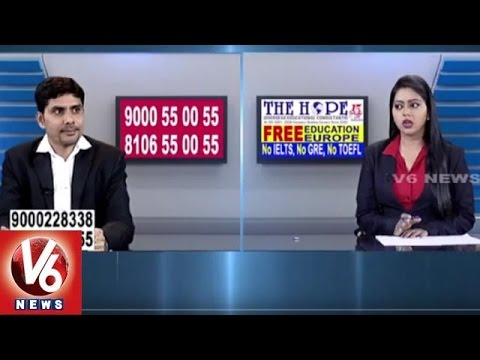 Career Point | Study In Foreign Countries | The Hope Overseas Education Consultancy | V6 News