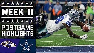 Ravens vs. Cowboys (Week 11) | Game Highlights | NFL