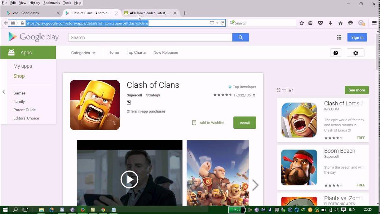 Cara download aplikasi game android playstore lewat laptop ...