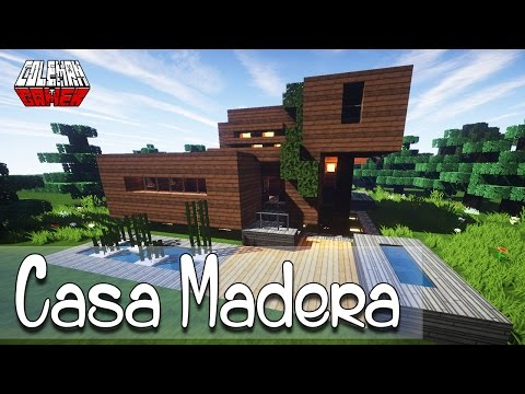 Una casa moderna xd minecraft build battle doovi for Casa moderna madera minecraft