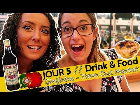 VLOG JOUR 5 : DRINK & FOOD // Ginjinha - Time Out Market (Lisbon, TRAVEL GUIDE)